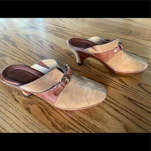 Cole Haan Leather and Suede Mules